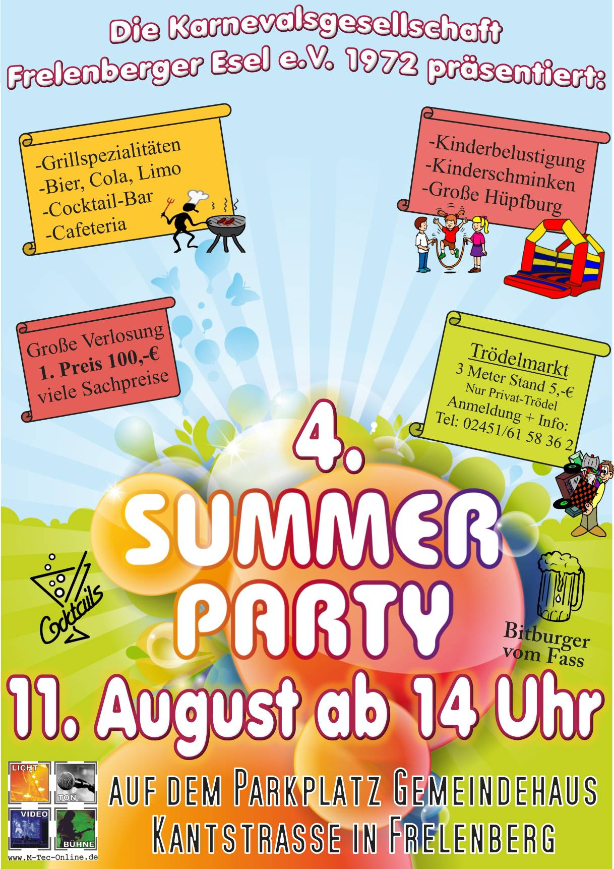 Plakat Summer Party 11.08.2018